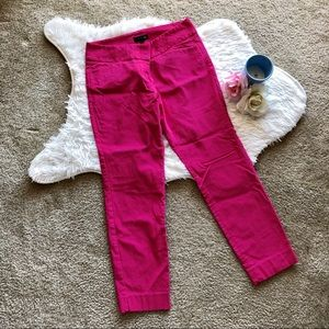 The Limited Hot Pink Cropped Pants
